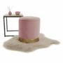 Kép 8/24 - ANIZA Puff,  rózsaszín Velvet anyag/gold króm-arany