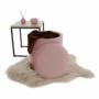 Kép 10/24 - ANIZA Puff,  rózsaszín Velvet anyag/gold króm-arany