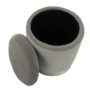 Kép 12/21 - DARON Puff,  szürke Velvet anyag/ezüst króm