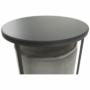Kép 14/20 - LEILA Szett kisasztal és puff,  szürke Velvet anyag/sötétszürke