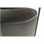 Kép 15/20 - LEILA Szett kisasztal és puff,  szürke Velvet anyag/sötétszürke