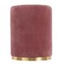 Kép 12/17 - BARICA Puff,  rózsaszín Velvet anyag/arany festés