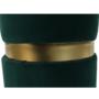 Kép 3/15 - VIZEL Puff,  smaragd Velvet anyag/arany festés