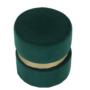 Kép 6/15 - VIZEL Puff,  smaragd Velvet anyag/arany festés