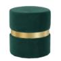 Kép 7/15 - VIZEL Puff,  smaragd Velvet anyag/arany festés