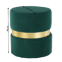 Kép 8/15 - VIZEL Puff,  smaragd Velvet anyag/arany festés