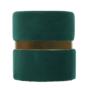 Kép 9/15 - VIZEL Puff,  smaragd Velvet anyag/arany festés
