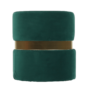 Kép 15/15 - VIZEL Puff,  smaragd Velvet anyag/arany festés