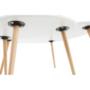 Kép 3/16 - FOLKO Két részes asztal szett,  fehér/bükk [NEW]