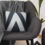 Kép 6/18 - FEDRIS Dizájnos fotel,  szürke anyag