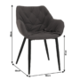 Kép 9/18 - FEDRIS Dizájnos fotel,  szürke anyag