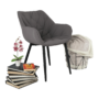 Kép 12/18 - FEDRIS Dizájnos fotel,  szürke anyag