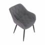 Kép 2/18 - FEDRIS Dizájnos fotel,  szürke anyag