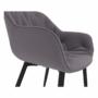 Kép 4/18 - FEDRIS Dizájnos fotel,  szürke anyag