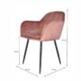 Kép 2/4 - ZIRKON Dizájnos fotel,  rózsaszínes barna Velvet anyag
