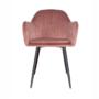 Kép 3/4 - ZIRKON Dizájnos fotel,  rózsaszínes barna Velvet anyag