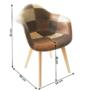 Kép 2/4 - TERST Dizájnos fotel,  patchwork/bükk