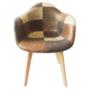 Kép 3/4 - TERST Dizájnos fotel,  patchwork/bükk