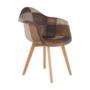 Kép 2/17 - TERST Dizájnos fotel,  patchwork/bükk