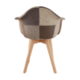 Kép 4/17 - TERST Dizájnos fotel,  patchwork/bükk