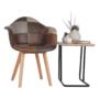 Kép 5/17 - TERST Dizájnos fotel,  patchwork/bükk
