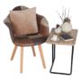 Kép 6/17 - TERST Dizájnos fotel,  patchwork/bükk