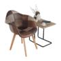 Kép 7/17 - TERST Dizájnos fotel,  patchwork/bükk