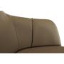 Kép 2/15 - KARAT Fotel,  szürkésbarna taupe/fekete/arany