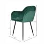 Kép 3/4 - ZIRKON Dizájnos fotel,  smaragd Velvet anyag