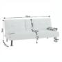Kép 2/15 - GOLDIA kinyitható kanapé,  bézs textilbőr [NEW]
