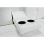 Kép 5/15 - GOLDIA kinyitható kanapé,  bézs textilbőr [NEW]