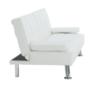 Kép 15/15 - GOLDIA kinyitható kanapé,  bézs textilbőr [NEW]