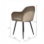 Kép 2/4 - ZIRKON Dizájnos fotel,  szürkésbarna Taupe Velvet anyag