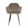 Kép 4/4 - ZIRKON Dizájnos fotel,  szürkésbarna Taupe Velvet anyag