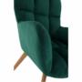 Kép 5/15 - FONDAR Dizájnos fotel,  smaragd Velvet anyag/tölgy