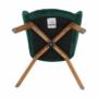 Kép 6/15 - FONDAR Dizájnos fotel,  smaragd Velvet anyag/tölgy
