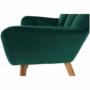 Kép 7/15 - FONDAR Dizájnos fotel,  smaragd Velvet anyag/tölgy
