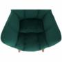 Kép 10/15 - FONDAR Dizájnos fotel,  smaragd Velvet anyag/tölgy