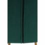 Kép 12/15 - FONDAR Dizájnos fotel,  smaragd Velvet anyag/tölgy