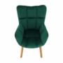 Kép 15/15 - FONDAR Dizájnos fotel,  smaragd Velvet anyag/tölgy
