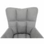 Kép 2/19 - KOMODO Dizájnos pörgő fotel,  szürke/fekete