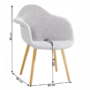Kép 2/2 - KADIR Fotel,  anyag szürke/bükk [NEW TIP 4]