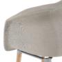 Kép 3/10 - KADIR Fotel,  anyag szürke/bükk [NEW TIP 4]