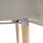 Kép 4/10 - KADIR Fotel,  anyag szürke/bükk [NEW TIP 4]