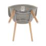 Kép 5/10 - KADIR Fotel,  anyag szürke/bükk [NEW TIP 4]