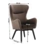 Kép 23/23 - TENAL Dizájnos fotel,   szürkésbarna TAUPE Velvet anyag