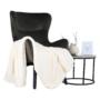 Kép 18/23 - TENAL Dizájnos fotel,   szürkésbarna TAUPE Velvet anyag