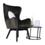 Kép 20/23 - TENAL Dizájnos fotel,   szürkésbarna TAUPE Velvet anyag