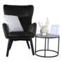 Kép 21/23 - TENAL Dizájnos fotel,   szürkésbarna TAUPE Velvet anyag