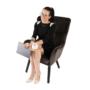 Kép 24/26 - TENAL Dizájnos fotel,   szürkésbarna TAUPE Velvet anyag